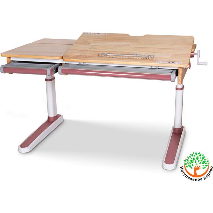 Детский стол Mealux Oxford BD-920 Wood Lite PN столешница дерево/накладки на ножках розовые