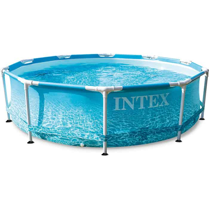 Каркасный бассейн Intex 28208 Metal Frame 305x76 см Beachside 4485 л, фил.-насос 1250 л/ч