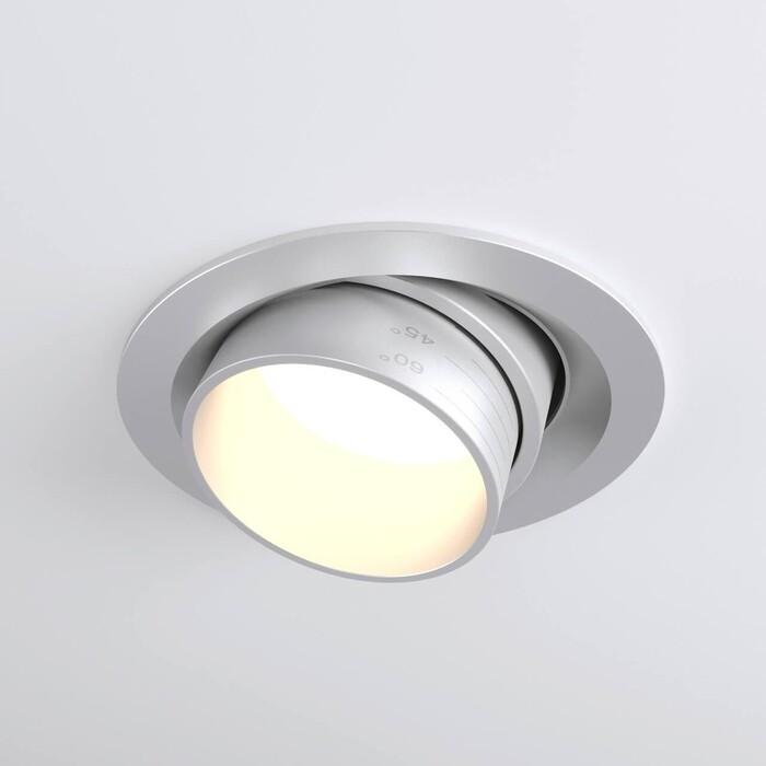 Светильник Elektrostandard Встраиваемый светодиодный 9919 LED 10W 4200K серебро 4690389162459
