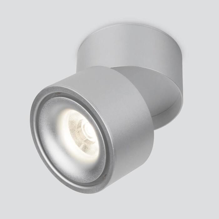 Фото - Светодиодный спот Elektrostandard DLR031 15W 4200K 3100 серебро матовый 4690389154393 светильник elektrostandard встраиваемый светодиодный 9919 led 10w 4200k серебро 4690389162459