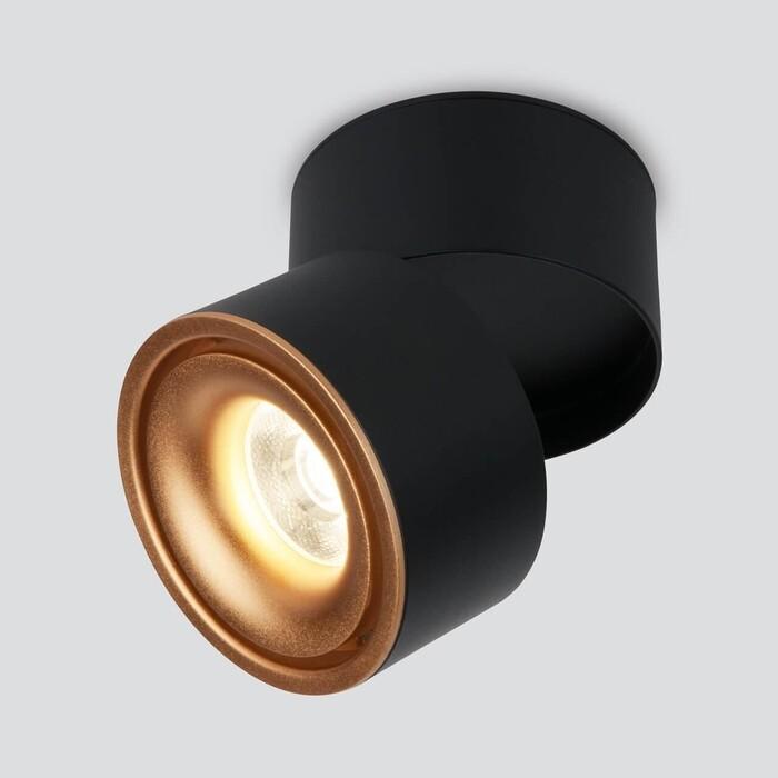 Светодиодный спот Elektrostandard DLR031 15W 4200K 3100 черный матовый/золото 4690389152788