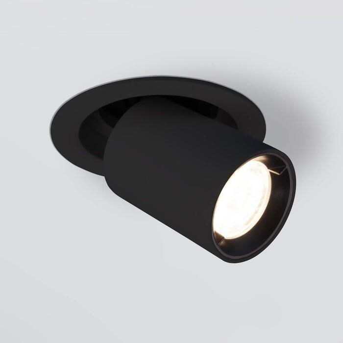 Спот Elektrostandard Встраиваемый светодиодный 9917 LED 10W 4200K черный матовый 4690389161681
