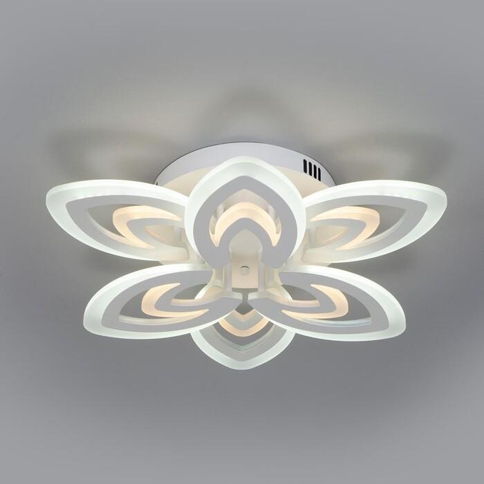 люстра потолочная светодиодная eurosvet energy 90044 6 30 м² белый свет цвет белый Люстра Eurosvet Потолочная светодиодная Floritta 90227/6 белый