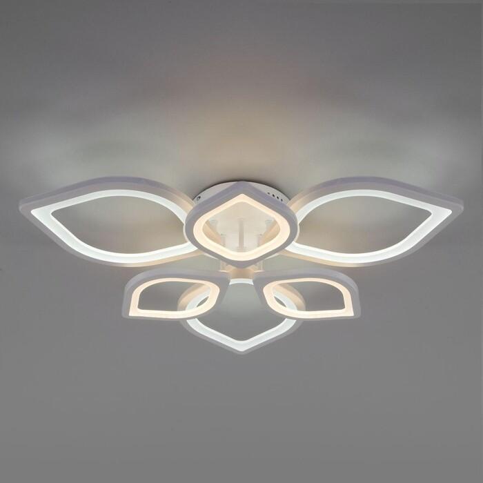 люстра потолочная светодиодная eurosvet energy 90044 6 30 м² белый свет цвет белый Люстра Eurosvet Потолочная светодиодная Garden 90228/6 белый
