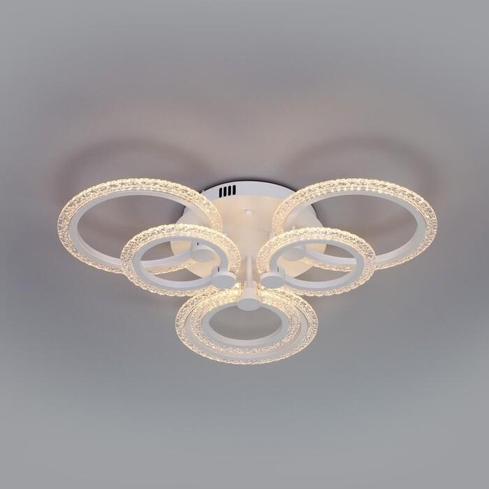 люстра потолочная светодиодная eurosvet energy 90044 6 30 м² белый свет цвет белый Люстра Eurosvet Потолочная светодиодная Wellen 90226/6 белый