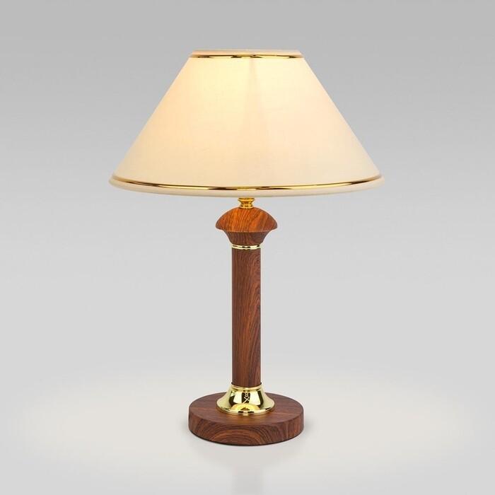 Настольная лампа Eurosvet Lorenzo 60019/1 орех настольная лампа eurosvet 60019 1 глянцевый белый 40 вт