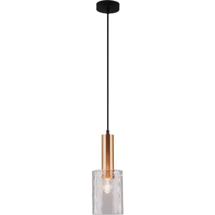 Светильник Eurosvet Подвесной 50177/1 черный/бронза светильник подвесной divinare 1341 02 lm 10
