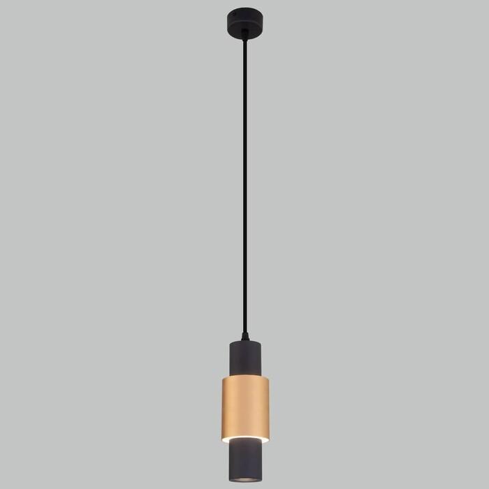 Светильник Eurosvet Подвесной светодиодный Bento 50204/1 черный/матовое золото светильник eurosvet подвесной castle 50088 5 черный золото