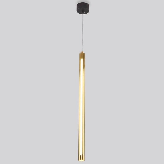 Светильник Eurosvet Подвесной светодиодный Strong 50189/1 LED черный/золото светильник eurosvet подвесной castle 50088 5 черный золото