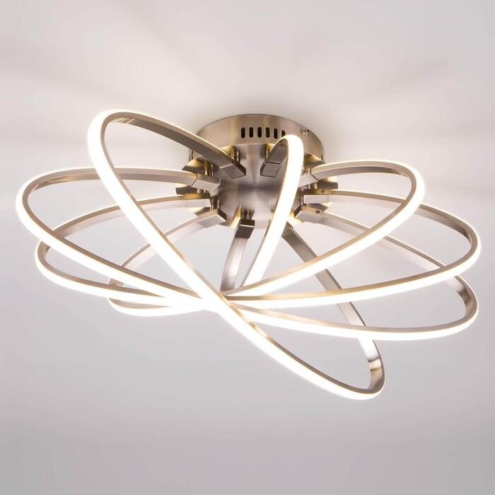 Фото - Светильник Eurosvet Потолочный светодиодный 90100/5 сатин-никель светильник eurosvet потолочный светодиодный 90177 3 сатин никель