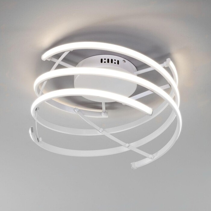 Фото - Светильник Eurosvet Потолочный светодиодный Breeze 90229/3 белый светильник eurosvet потолочный светодиодный 90177 3 сатин никель