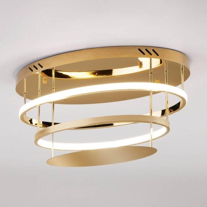 Светильник Eurosvet Потолочный светодиодный Chic 90160/2 золото