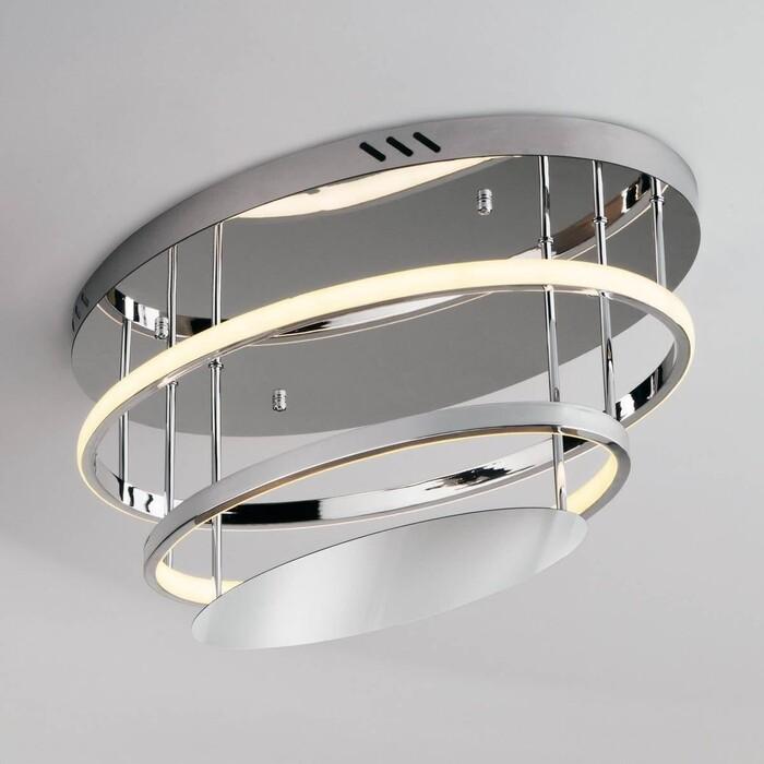 Светильник Eurosvet Потолочный светодиодный Chic 90160/2 хром