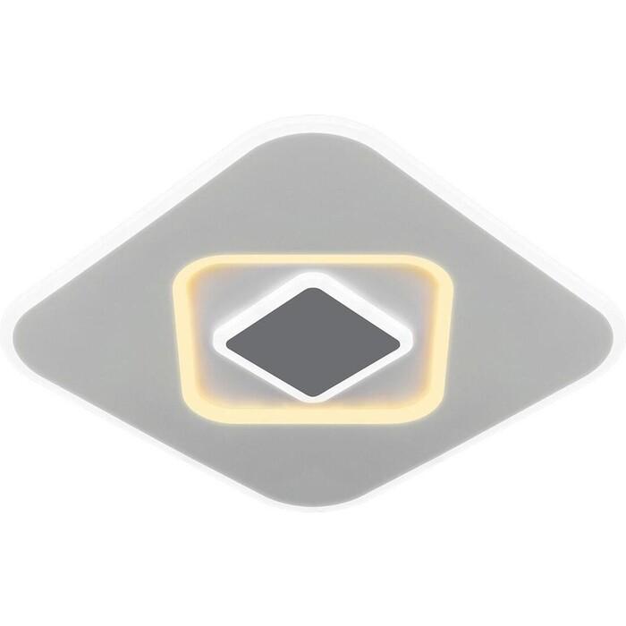 Светильник Eurosvet Потолочный светодиодный Just 90218/1 белый/ серый