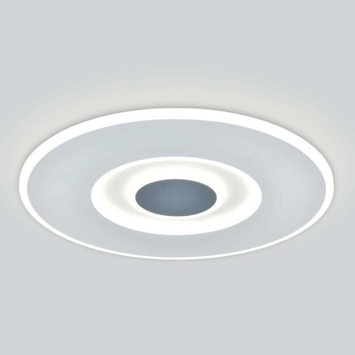 Светильник Eurosvet Потолочный светодиодный Just 90219/1 белый/ серый