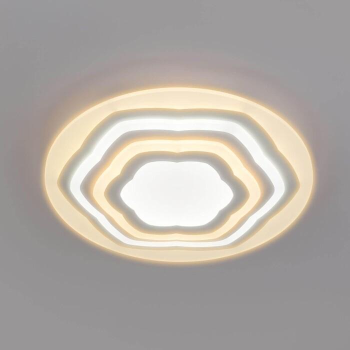 Светильник Eurosvet Потолочный светодиодный Siluet 90117/4 белый