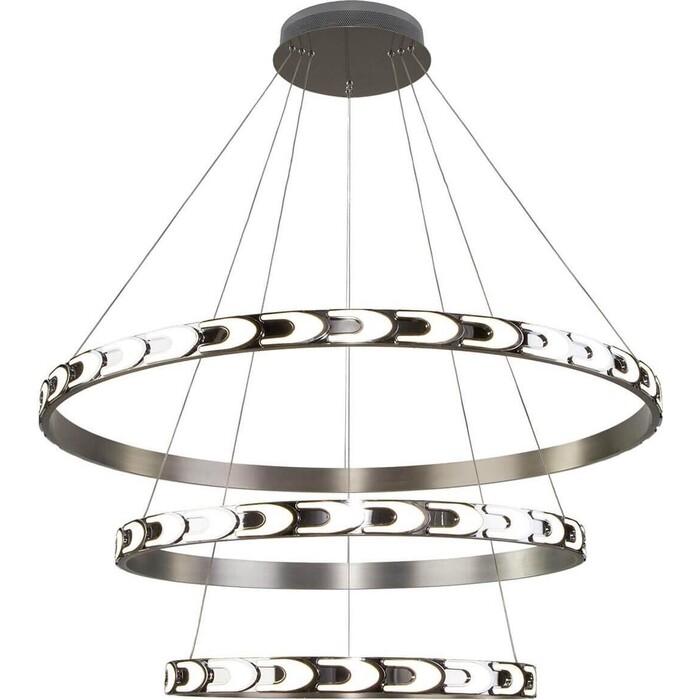Фото - Светильник Eurosvet Светодиодный с пультом управления 90163/3 сатин-никель светильник eurosvet потолочный светодиодный 90177 3 сатин никель