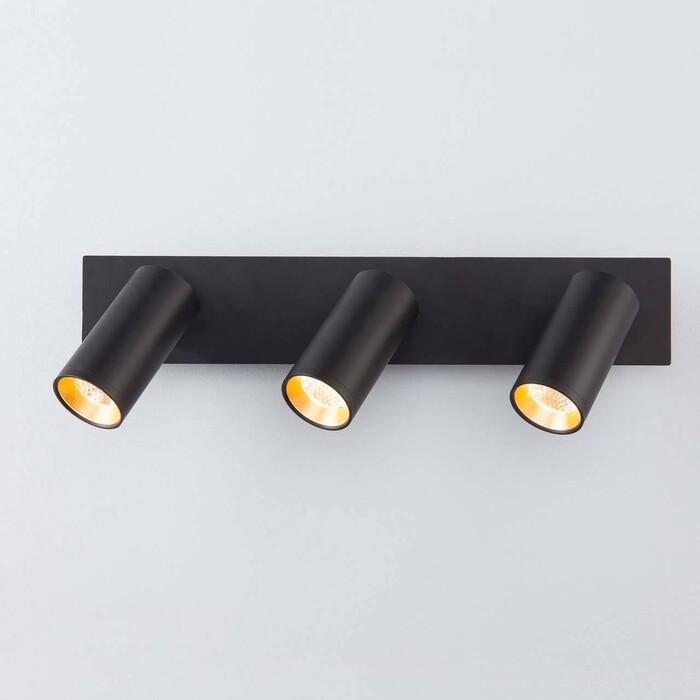 Спот Eurosvet Светодиодный Fleur 20066/3 LED черный/золото