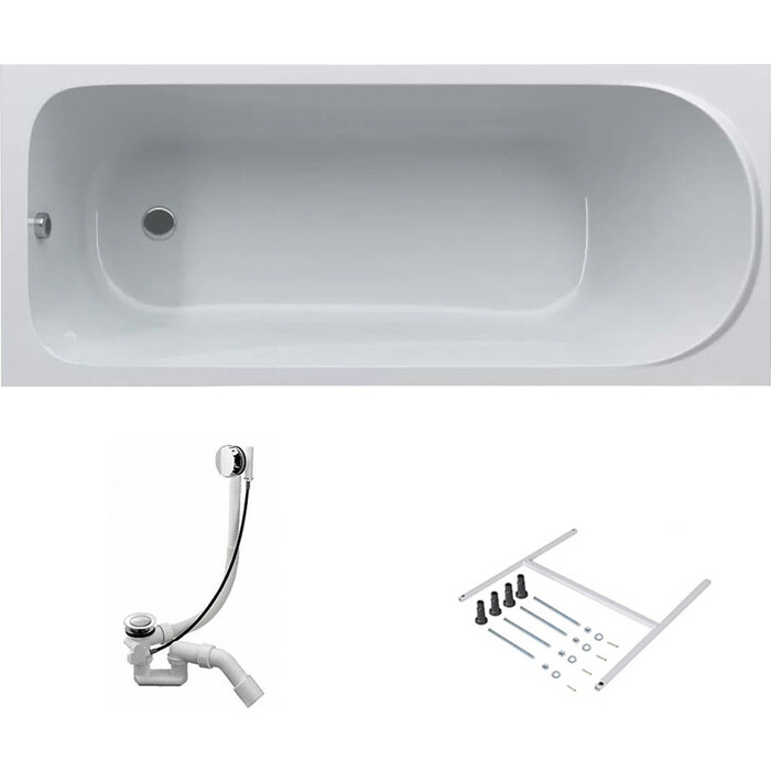 Акриловая ванна Am.Pm Sense 170x70 с каркасом и слив-переливом (W75A-170-070W-KL)