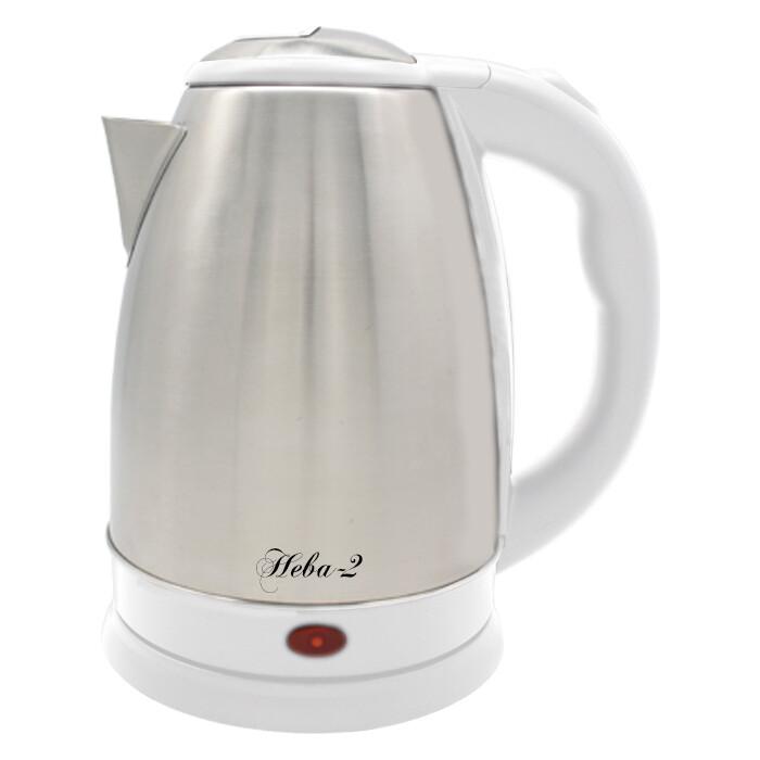 Чайник электрический Великие реки Нева-2 белый чайник электрический великие реки нева 2 1 8л 2000вт белый корпус нержавеющая сталь