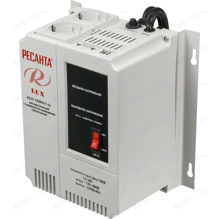 Стабилизатор напряжения Ресанта АСН-1 500 Н/1-Ц Lux ресанта асн 12000н 1 ц lux
