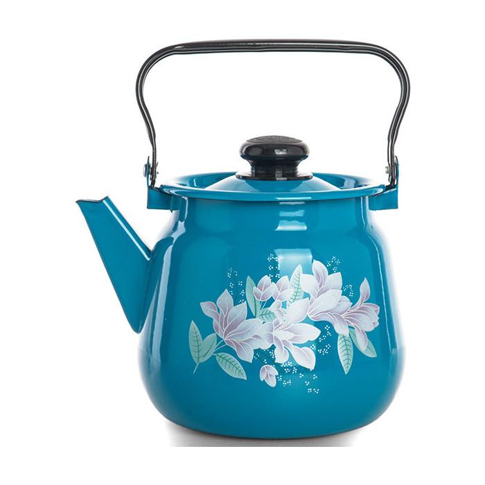 Чайник эмалированный Сибирские товары 3,5л Васильковый (С2716.34)