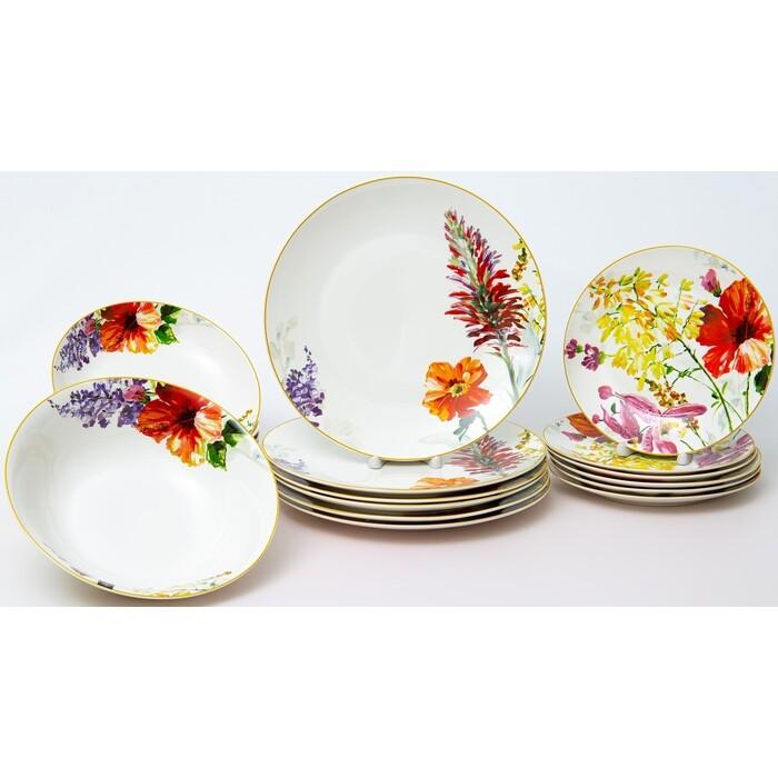 Набор столовой посуды 19 предпетов Balsford АКВАРЕЛЬНЫЙ БУКЕТ (180-40011)