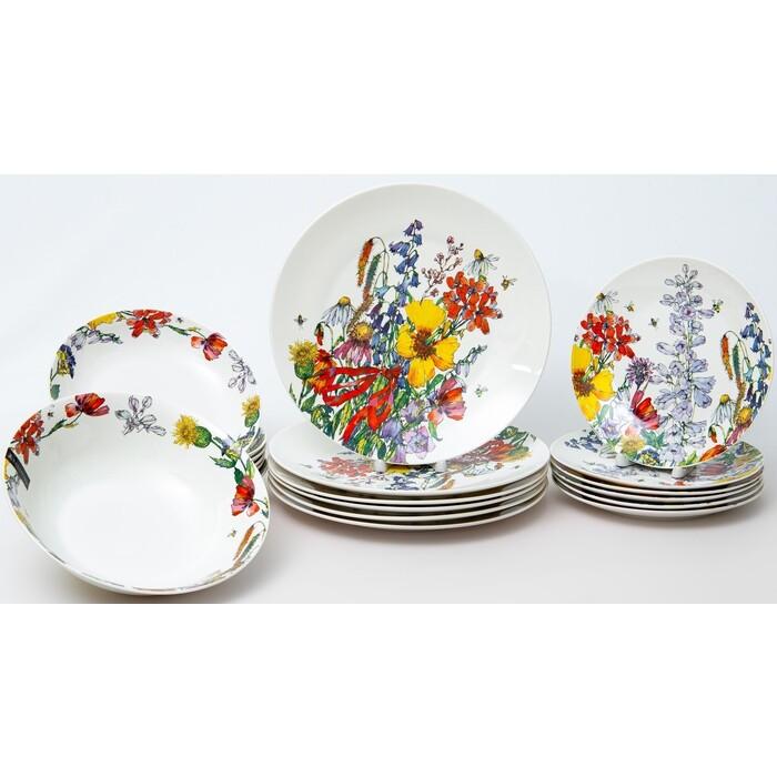 Набор столовой посуды 19 предметов Balsford ПОЛЕВЫЕ ЦВЕТЫ (169-40011) набор тарелок balsford полевые цветы 550 мл 2 предмета арт 169 40004