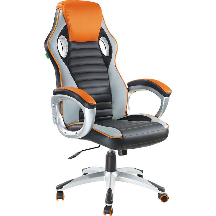 Кресло Riva Chair RCH 9292H черный/оранжевый