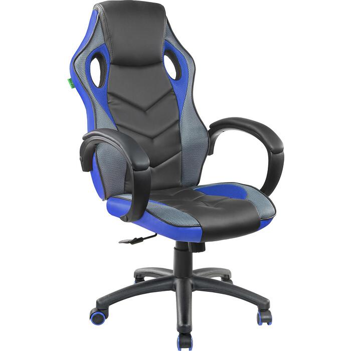 Кресло Riva Chair RCH 9381H черный/голубой кресло riva chair rch 6016 3 светлый беж q 071