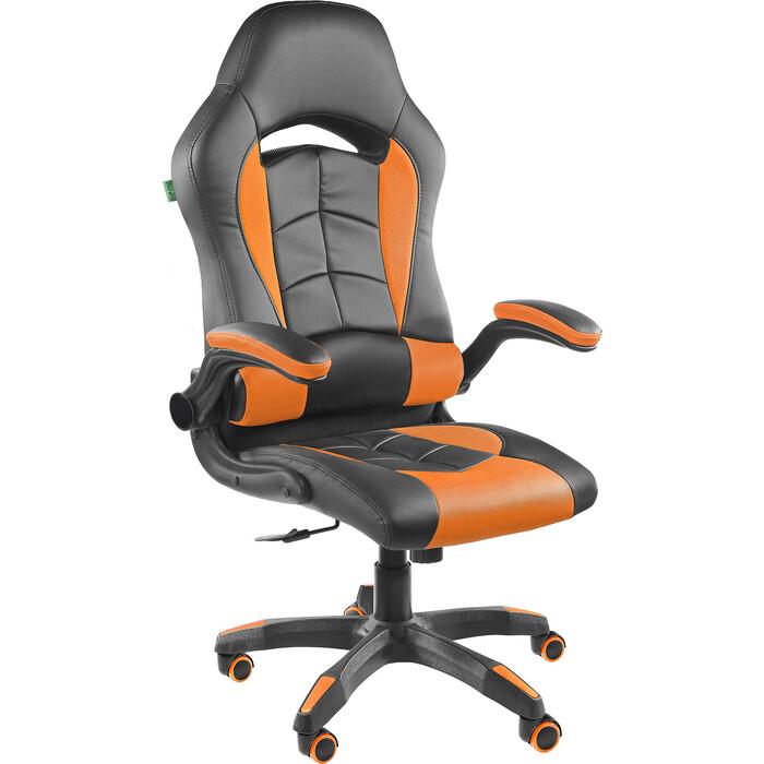 Кресло Riva Chair RCH 9505H черный/оранжевый