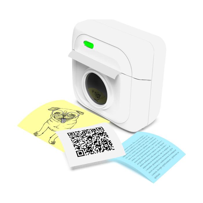 Портативный принтер для печати Ritmix RTP-001 white