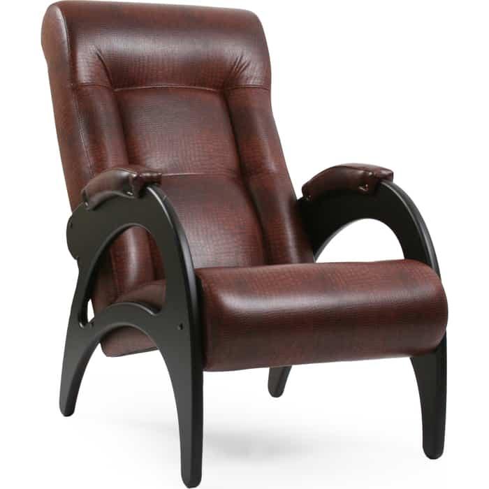 Кресло для отдыха Мебель Импэкс Модель 41 венге без лозы/венге лозы к/з antik crocodile