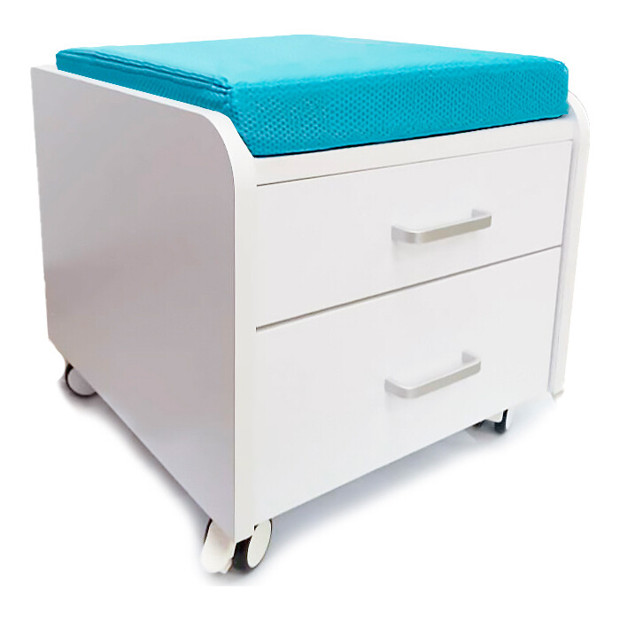 Тумбочка Mealux BD-C3 BL с подушкой цвет голубой
