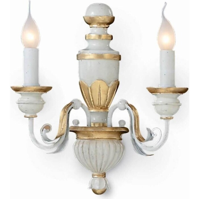 Бра Ideal Lux Firenze Ap2 Bianco Antico 012902 люстра ideal lux firenze sp5 bianco antico firenze