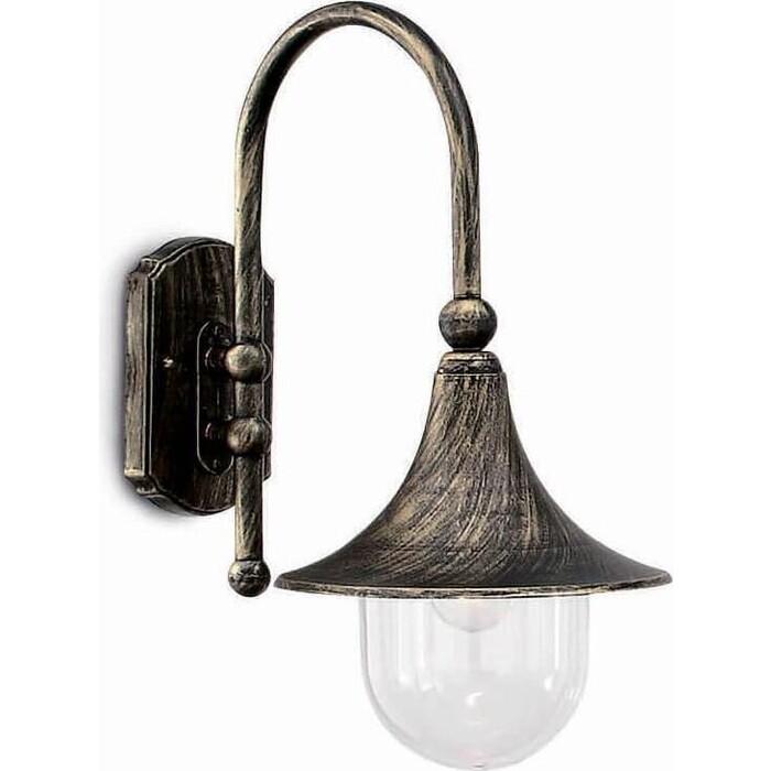 Светильник Ideal Lux Уличный настенный Cima Ap1 Nero Antico 024134 уличный светильник ideal lux sound sound ap1 nero