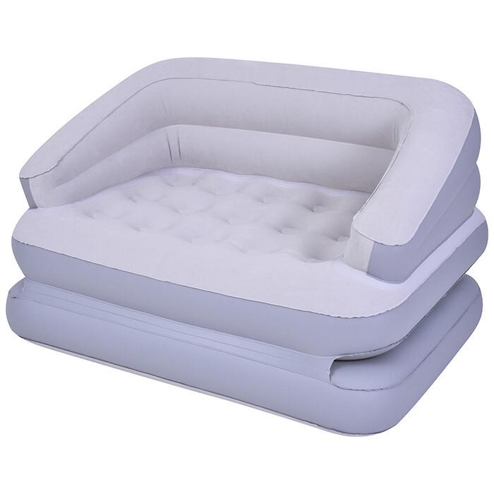 Надувное кресло-кровать Jilong DOUBLE 198х138х62 см трансформер с эл. насосом