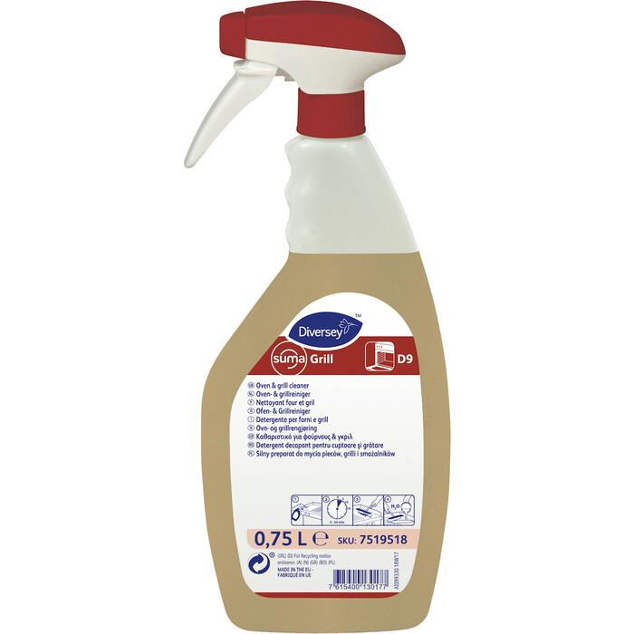 Чистящее средство Suma Комплект Grill D9 для печей и грилей, 2 x 750 мл + триггер