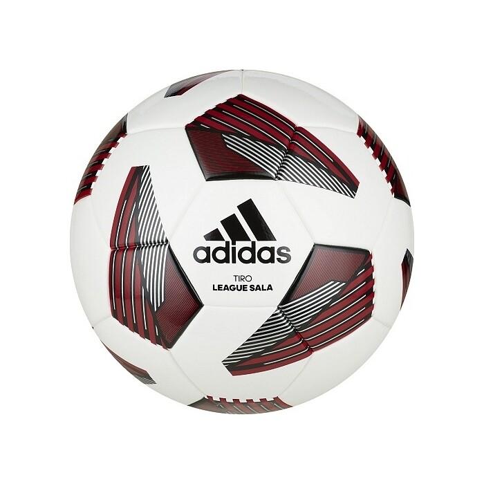 Мяч футзальный Adidas Tiro League Sala FS0363, р.4, ТПУ, 28 пан, IMS, термосшивка, бело-красый-черный