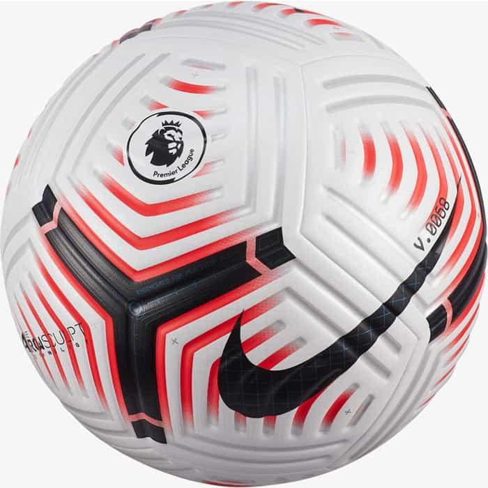 Мяч футбольный Nike Flight PL CQ7147-100, р.5, 4пан, ПУ, FIFA PRO, термосшивка, белый-черный-красный недорого