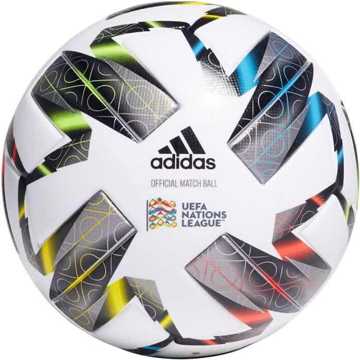 Мяч футбольный Adidas Uefa NL PRO FS0205, р.5, 6п, FIFA PRO, ПУ, термосшивка, мультиколор