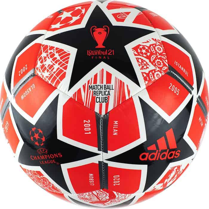 мяч футбольный adidas conext19 tcpt dn8636 белый желтый оранжевый размер 5 Мяч футбольный Adidas Finale Club GK3470, р.5