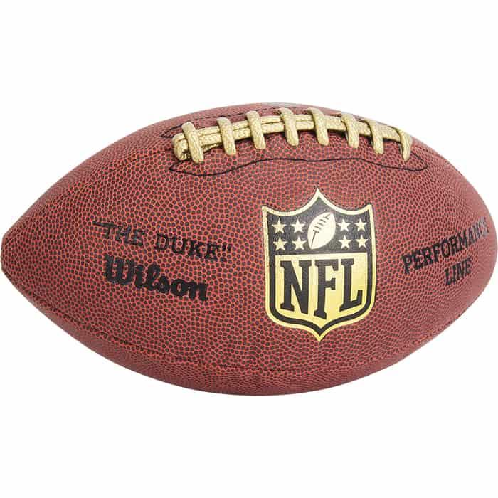 Мяч для американского футбола Wilson NFL Duke Performance Official, арт. WTF1877XB, синткожа ПУ, бут.кам, маш.сшивка, коричневый