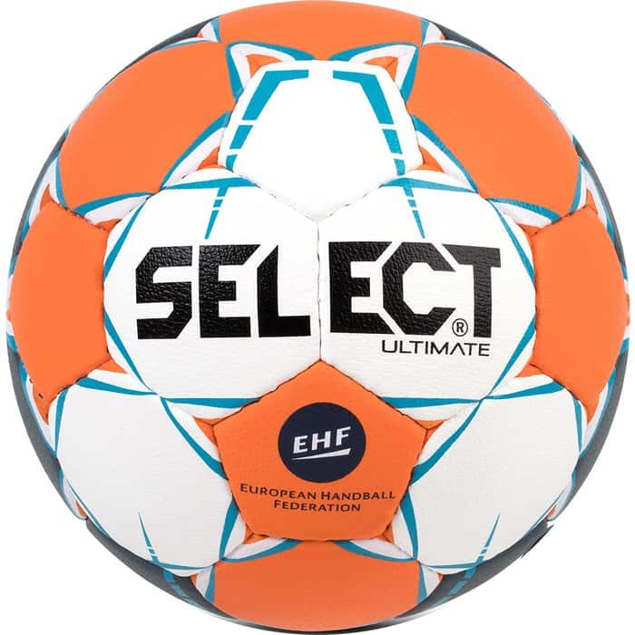 Мяч гандбольный Select Ultimate EHF 843208-062, Junior (р.2), Appr, ПУ, руч.сшивка, оранжевый-бело-синий