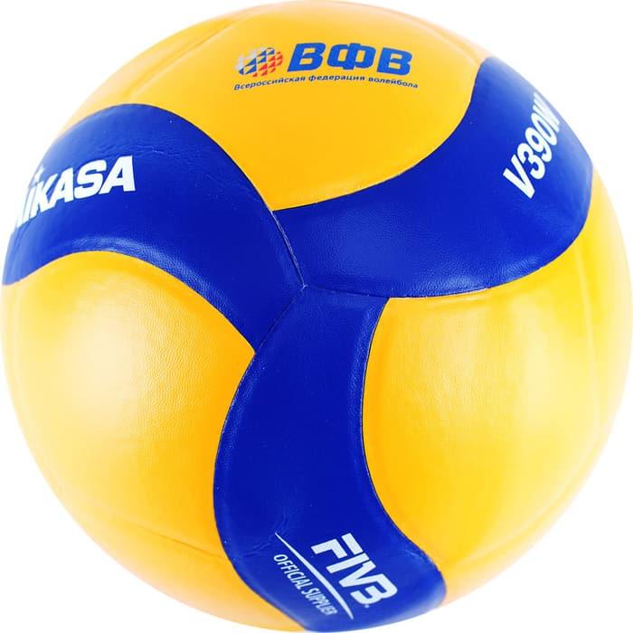 Мяч волейбольный Mikasa V390W р.5, оф. парам. FIVB