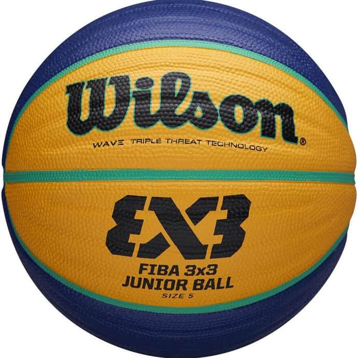 Мяч баскетбольный Wilson FIBA3x3 Replica, арт. WTB1133XB, р.5, резина, бутил. камера, сине-желтый