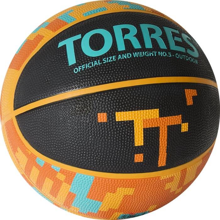 Мяч баскетбольный Torres TT B02125, р.5 баскетбольный мяч torres b30035 р 5 коричневый черный