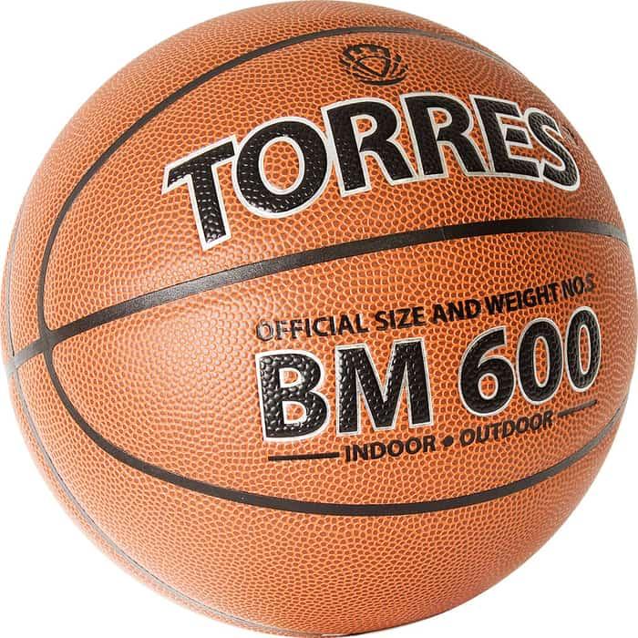 Мяч баскетбольный Torres BM600 B32025, р.5 мяч баскетбольный torres slam b02065 р 5