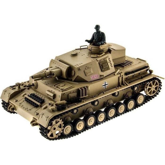 Радиоуправляемый танк Heng Long DAK Panzerkampfwagen IV Ausf F-1 масштаб 1:16 2.4G - 3858-1 V6.0 танк heng long dak pzkpfw iv ausf f 1 3858 1pro 1 16 40 3 см бежевый
