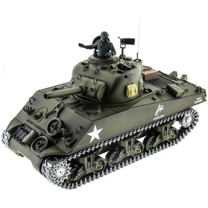 Радиоуправляемый танк Heng Long U.S. M4A3 Sherman масштаб 1:16 2.4G - 3898-1 V6.0